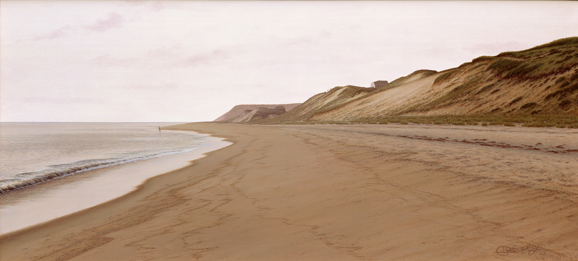 """""""Early Rising"""", 14"""" x 30"""", oil on panel"""