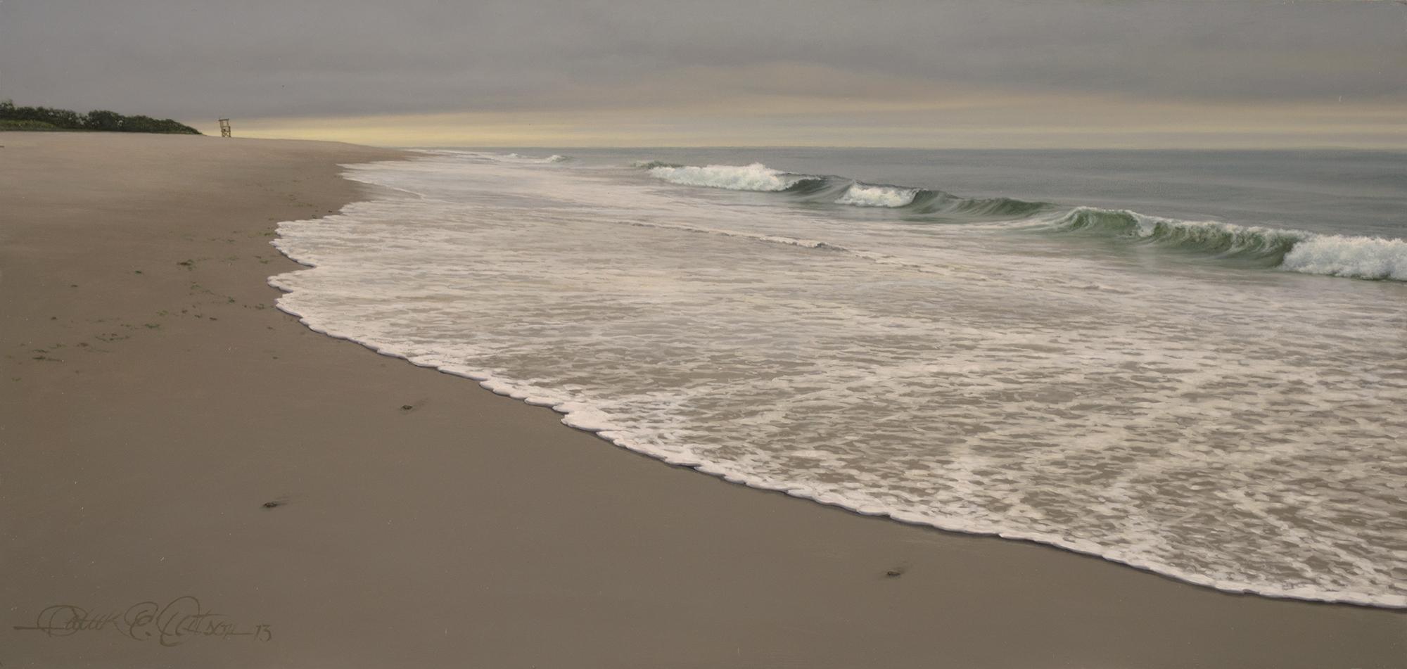 """Morning Surf"" 8"" x 17"", oil on panel"