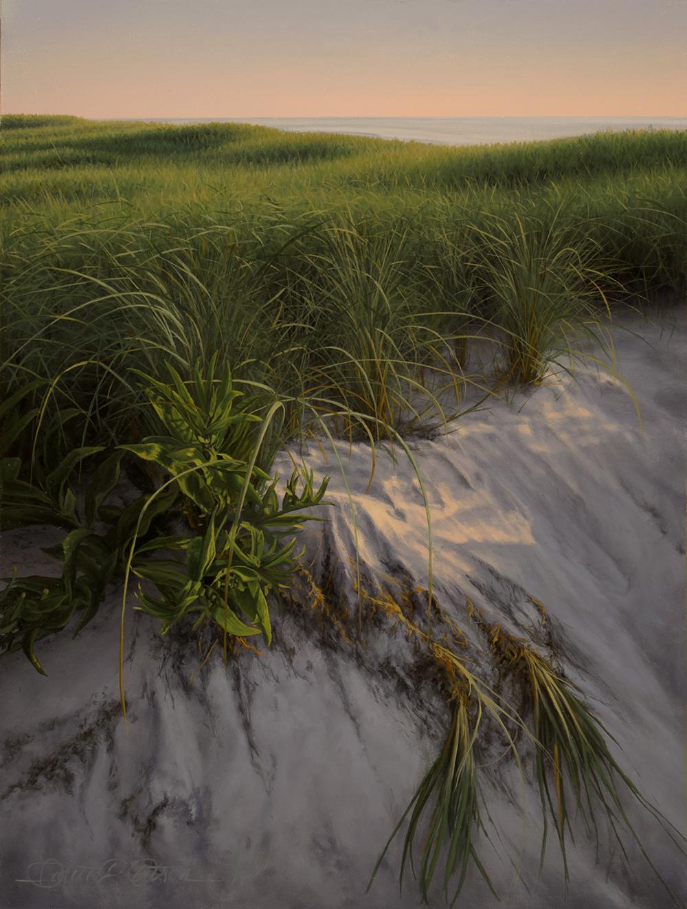 """""""On the Dunes"""", 12"""" x 9"""", oil on panel"""