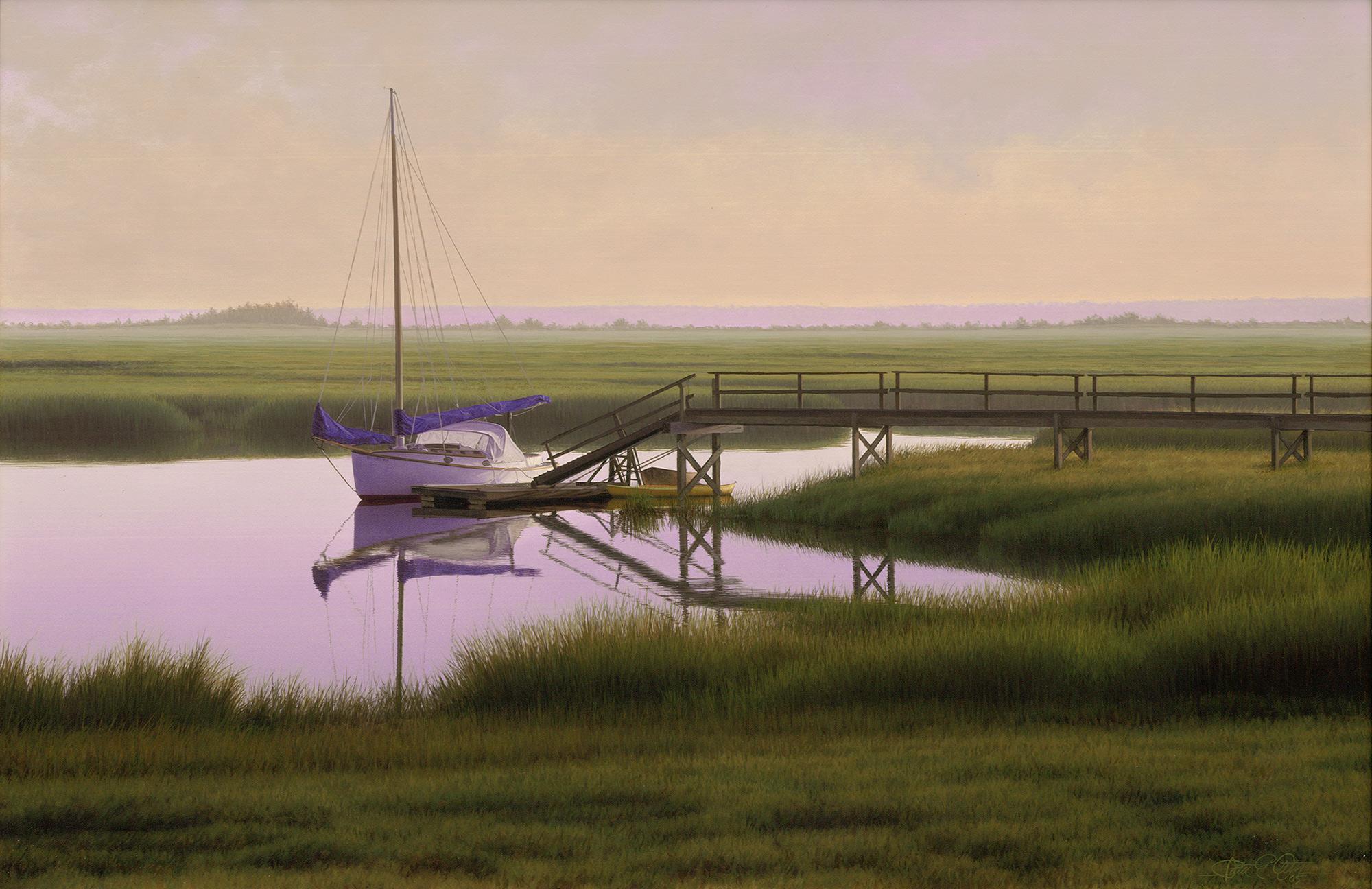"""Summer Harbor"", 24"" x 36"", oil on panel"