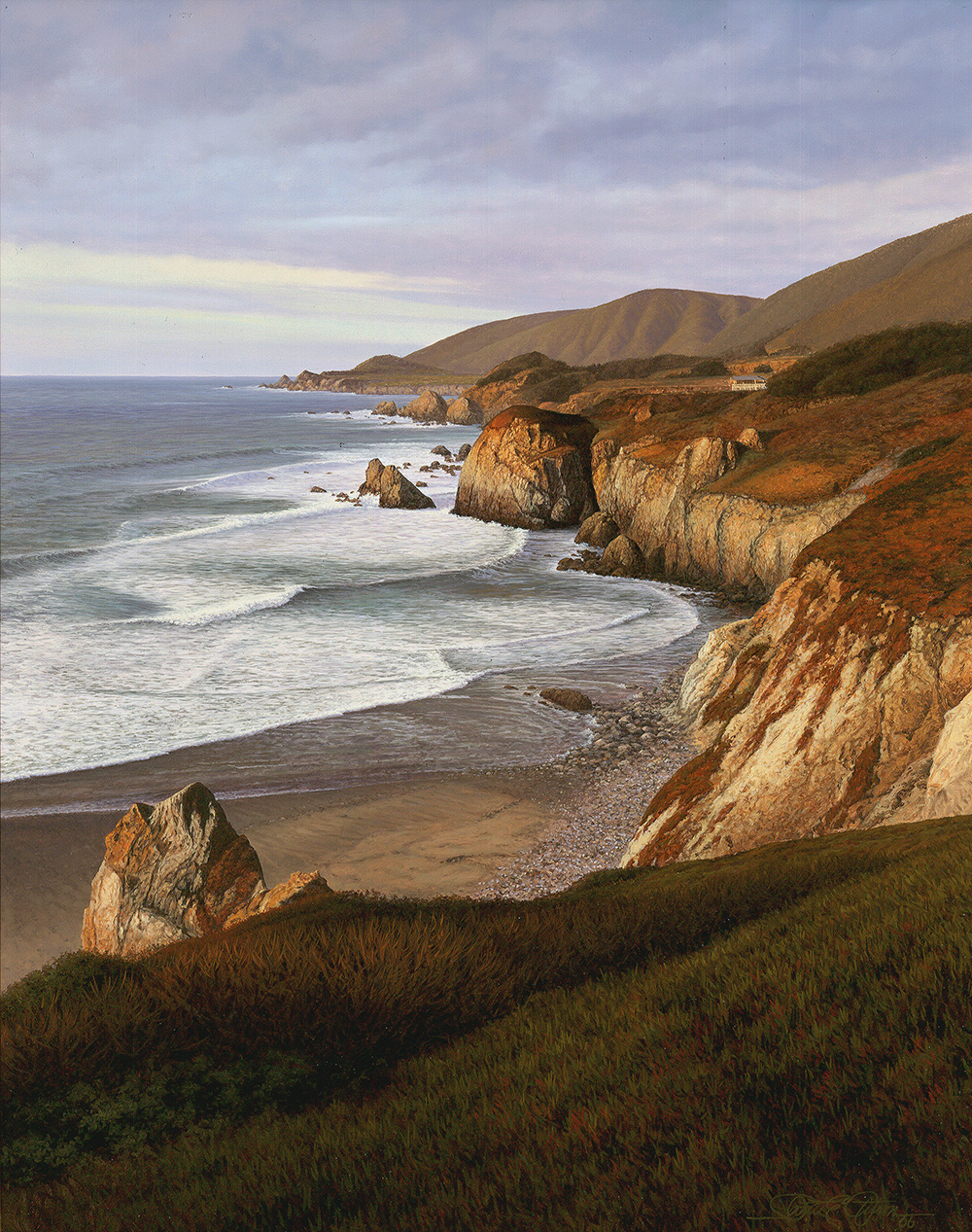 """""""The Road to Monterey"""", 22"""" x 28"""", oil on panel"""