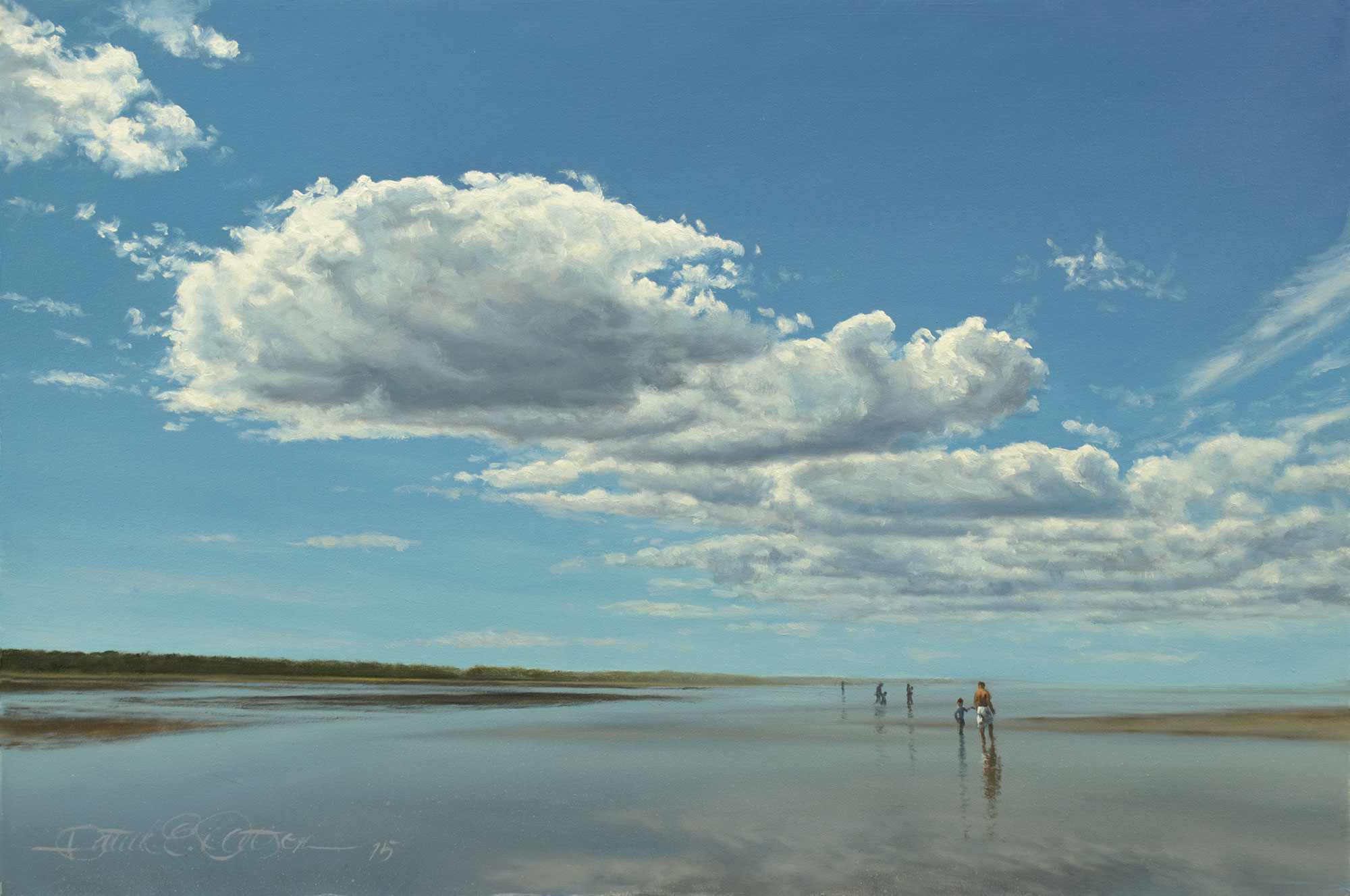 """Low Tide and Big Sky""(study), 8"" x 12"", oil on panel - Sold"
