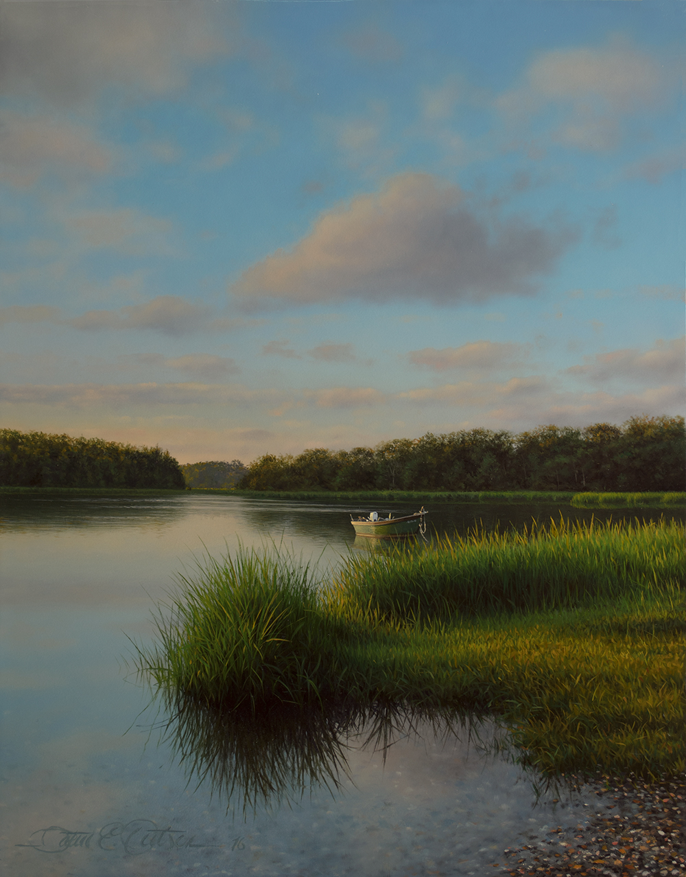 """Morning on Salt Pond"", 14"" x 11"", oil on panel"
